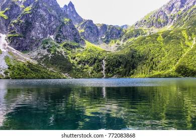 Polish Tatra mountains Morskie Oko lake. Poland