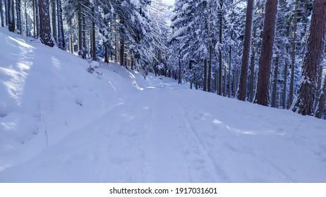 Polish winter in Karkonosze mountains - Shutterstock ID 1917031601
