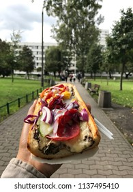 Polish zapiekanka food