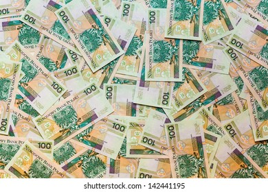 Polish zloty background