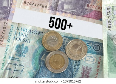 Polish zloty banknotes and coins Polish zloty Pln and social benefits for children in Poland 500+