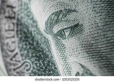 Polish Zloty banknotes (PLN) closeup. Polish One Hundred Zlotych