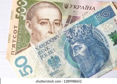 Polish zloty, Ukrainian hryvnia