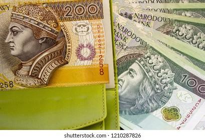 Polish zloty in wallet
