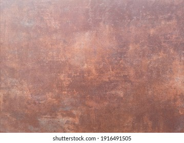 Copper wall finish smooth polished surface texture concrete material for background, abstract brown color, floor construction Architecture, for paper greeting card