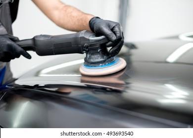 Polished black car polishing machine polished finishing