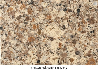 Polished granite surface with focus across entire surface