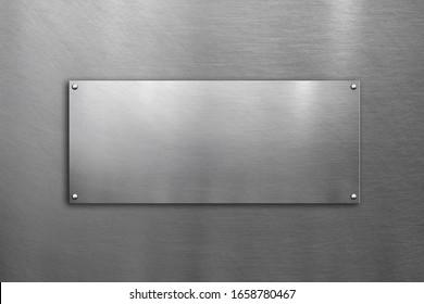 polierte Metallplatte auf Stahlhintergrund