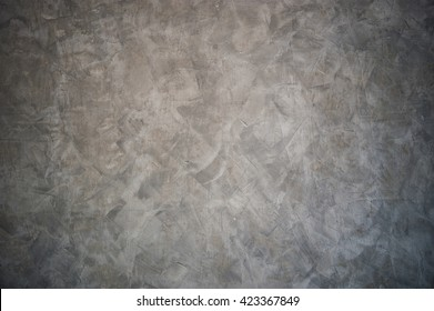 Polished plaster wall