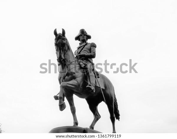 polished-statue-george-washington-boston