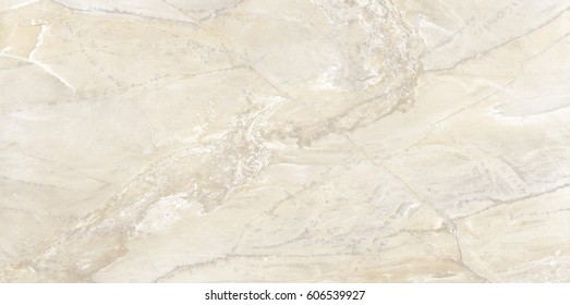 Polished yellow marble. Real natural marble stone texture and surface background.