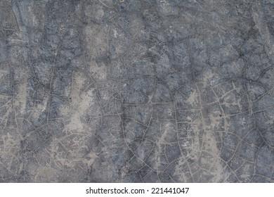 Polishing concrete wall