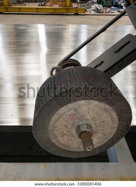 Polishing Wheel Buffing Stainless Steel Grade Stock Photo