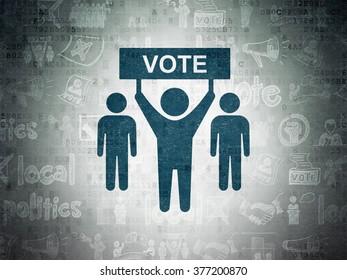 Political concept: Election Campaign on Digital Paper background
