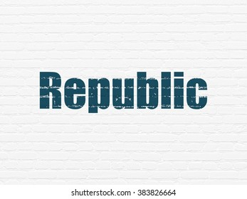 Political concept: Republic on wall background