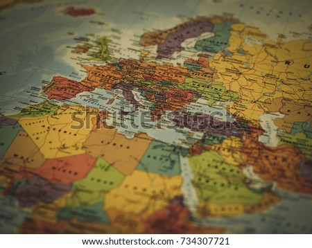 Political Europe Africa Middle East Map Stock Photo Edit Now