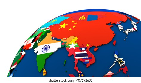 Global flags images stock photos vectors shutterstock political map of asia with each country represented by its national flag 3d illustration freerunsca Image collections