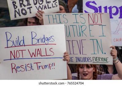 Political protest. Huntsville, Alabama, USA. September 22, 2017