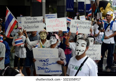 a political Protest at Pratunam in the city of Bangkok in Thailand in Suedostasien. Thailand, Bangkok, Ddezember , 2012,