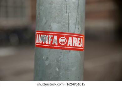 Political Sticker in City Pole