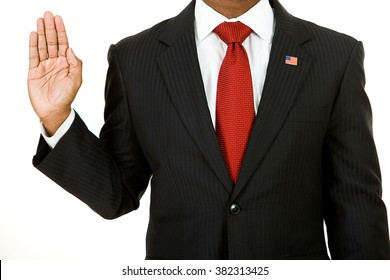 Politician: Anonymous Politician Gives Oath