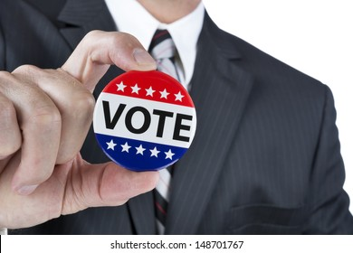 A politician is promoting the right to vote in political elections in the USA.