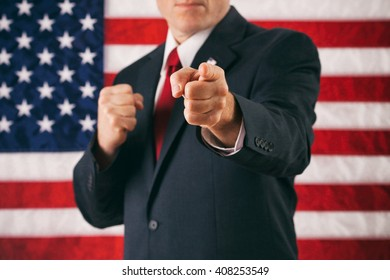 Politician: Ready To Fight And Pointing At Viewer