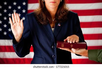 Politician: Taking an Oath of Political Office
