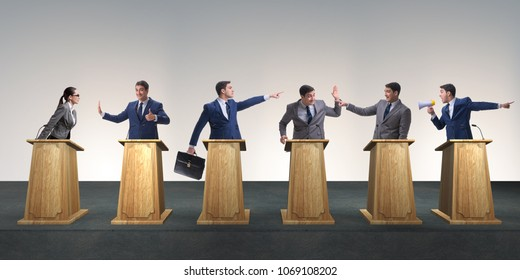 Politicians participating in political debate