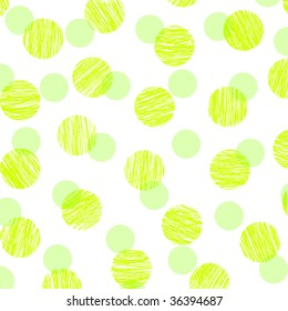 polka dots in green lines and solid color
