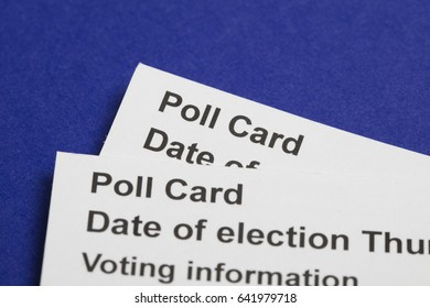 Poll Card for the UK General election