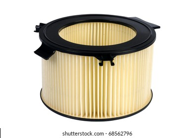 an pollen filter, auto spare part, clipping path