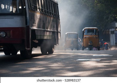 Pollution from city traffic in a asian city