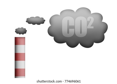 Pollution of factories by smoke
