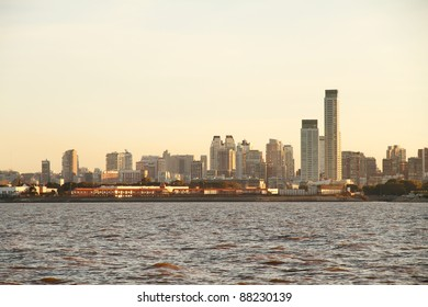 Pollution over the skyline of Buenos Aires, Argentina.