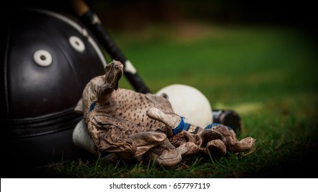 Polo Gloves Helmet and Ball, Horse Back Riding