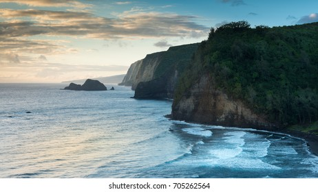 Pololu Valley During Sunrise, Big Island, Hawaii