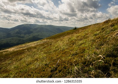 Polonina carynska in Bieszczady Mountains. Bieszczady is a part of Carpathian mountains. Poland.