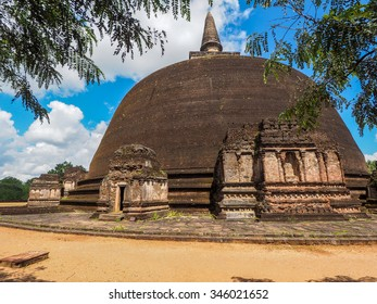 Polonnaruwa ruin was the second capital of Sri Lanka after the destruction of Polonnaruwa. The photograph is presenting Buddhist Stupa. Sri Lanka