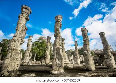 The Polonnaruwa Vatadage in the world heritage city Polonnaruwa, Sri Lanka