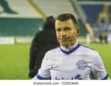 POLTAVA, NOVEMBER 20 2016 - Player of FC Dnipro Ruslan Rotan during the match Ukrainian Premier League Vorskla â?? Dnipro at the Oleksiy Butovskyi Vorskla Stadium