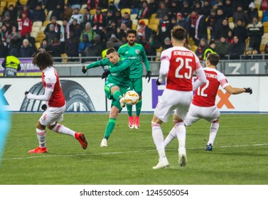 POLTAVA, UKRAINE - 29 NOVEMBER 2018: Professional Ukrainian football midfielder Volodymyr Chesnakov during UEFA League Europe match Vorskla - Arsenal London at Vorskla Stadium