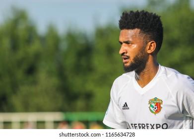 POLTAVA, UKRAINE - AUGUST 18, 2018: Artur Sergio Batista de Souza during a friendly match Vorskla – Kremin at the stadium Ltava