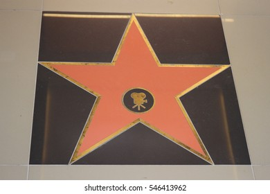 POLTAVA, UKRAINE - DECEMBER 27,2016: A copy of the star of the Hollywood Walk of Fame (USA) during opening ceremony picture theater Wizoria (Kolos)