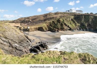 Polurrian Cove on the Lizard Peninsula, Cornwall UK