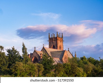 Polwarth Parish Church at Sunset. Edinburgh, Scotland, UK