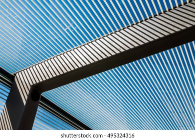 Polycarbonate bus stop contruction roof