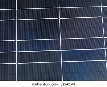 Polycrystalline solar cell close-up