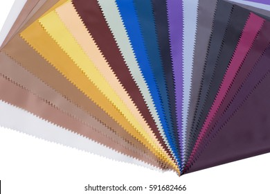 Polyester Fabric Colorful On Background Swatch Samples Black Blurry And Sofl