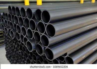 Polyethylene pipes stock